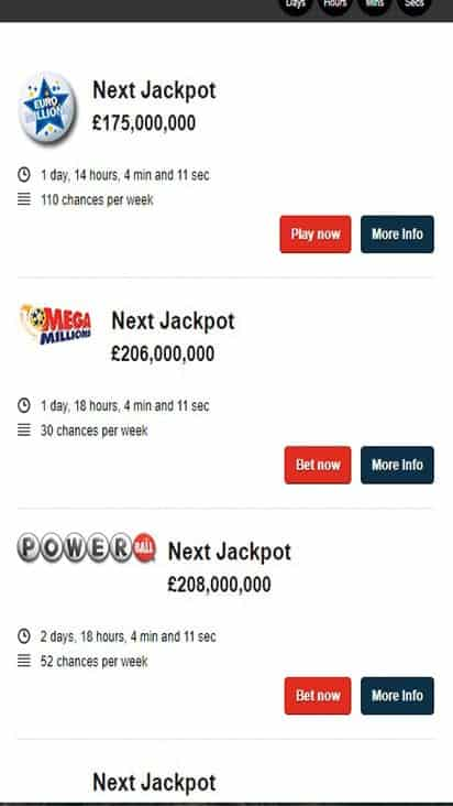 play lottery game mobile