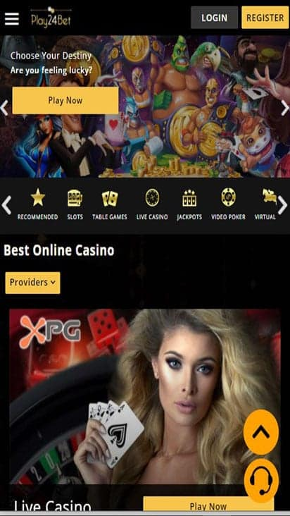 play24bet home mobile