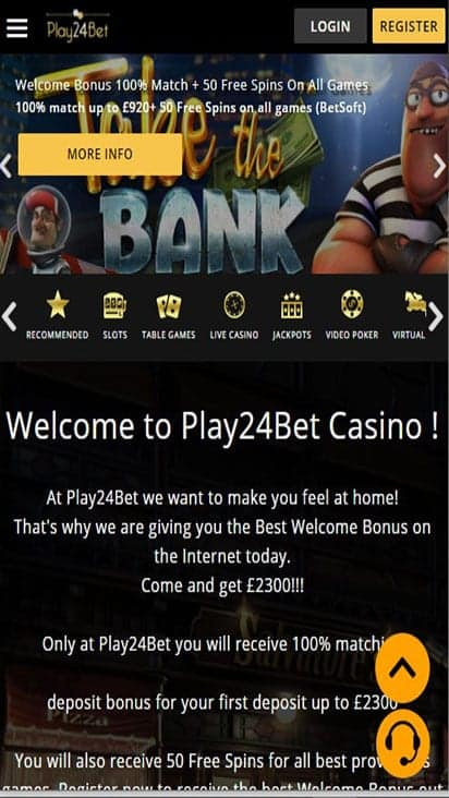 play24bet promo mobile