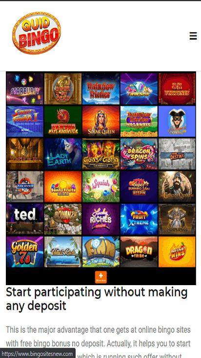 quid bingo game mobile