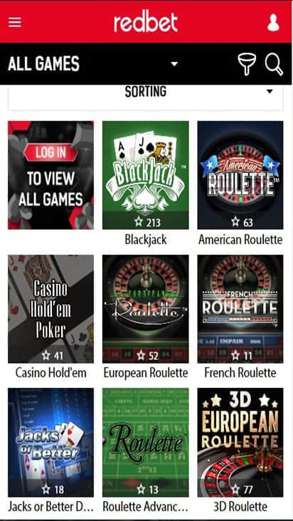 red bet game mobile
