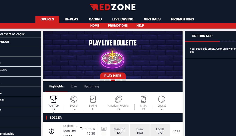redzone sports home