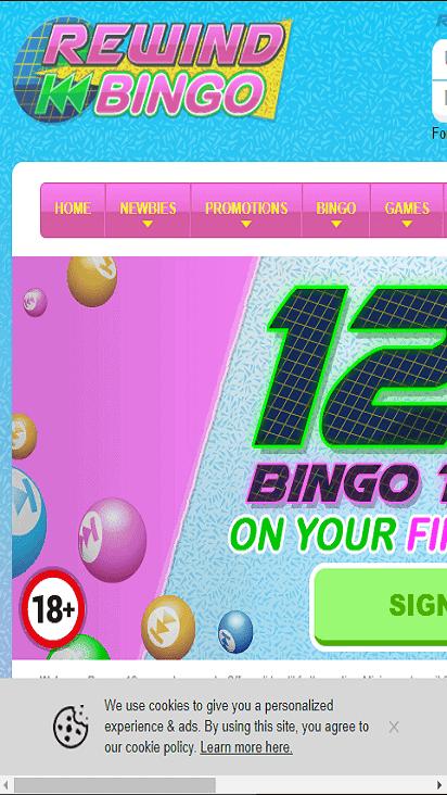 rewind bingo home mboile