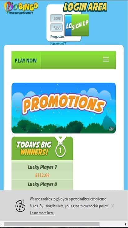 rio bingo promo mobile