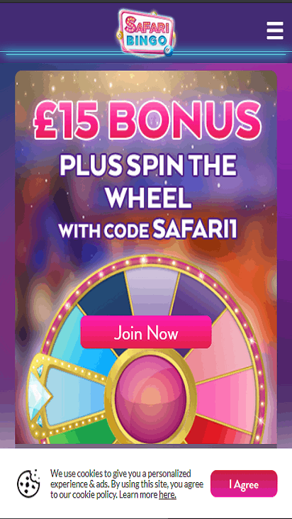 safari bingo home mobile