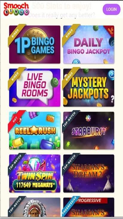 smooch bingo game mobile