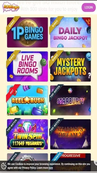 so bingo game mobile