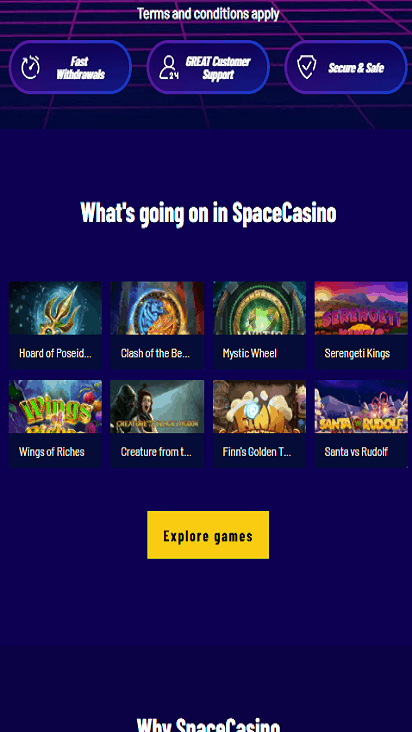 space casino game mobile