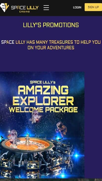 spacelilly promo mobile
