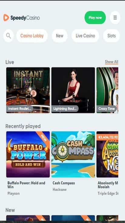 speedy casino game mobile