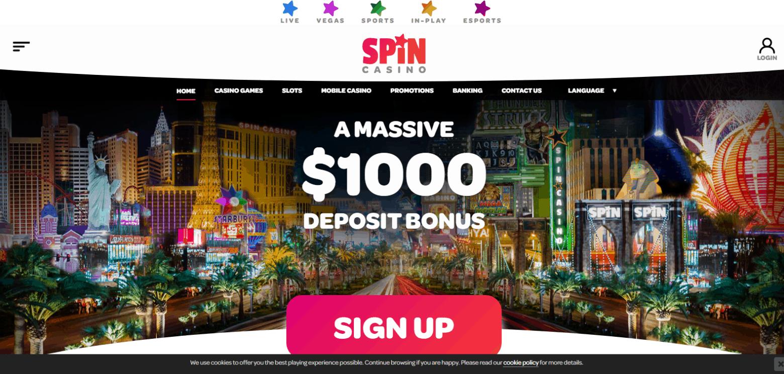 spin casino home