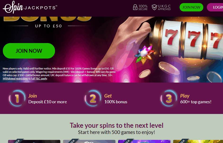 spin jackpots promotions