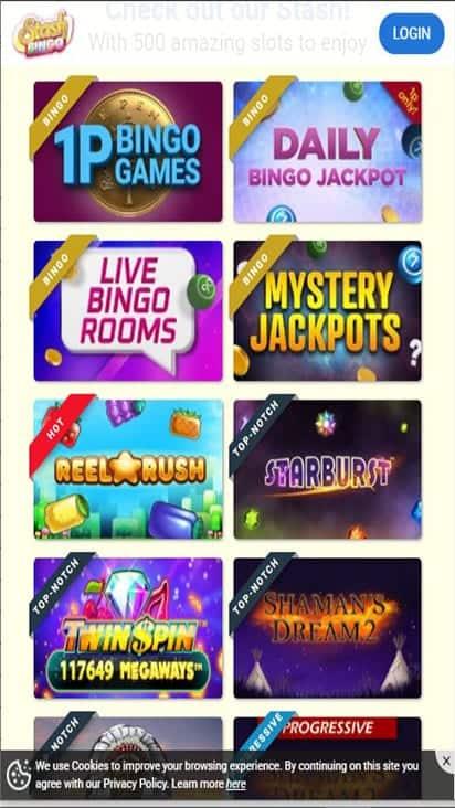 stash bingo game mobile