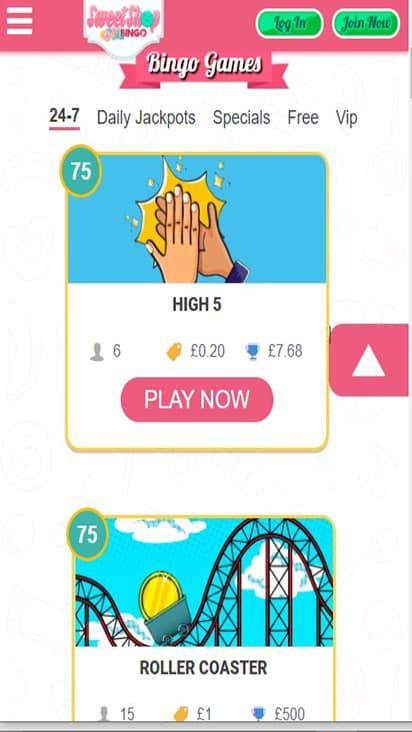 sweetshopbingo game mobile