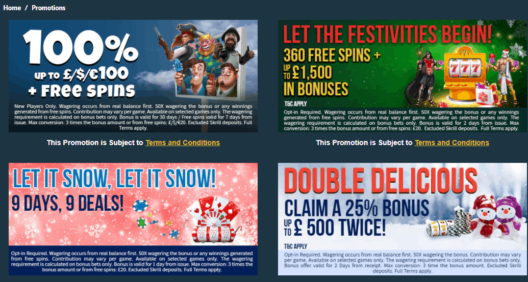 the online casino promotions