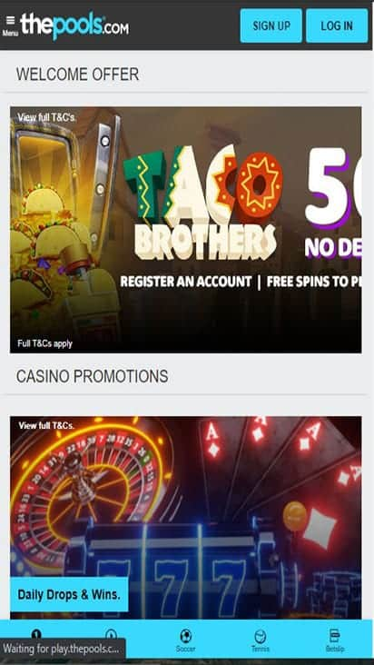 the pools promo mobile