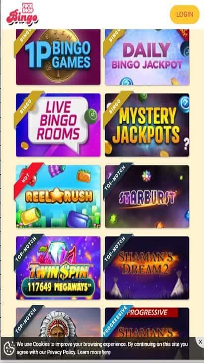 tuck shop bingo game mobile