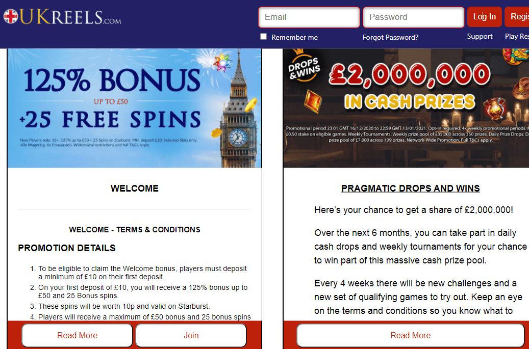 uk reels promotions