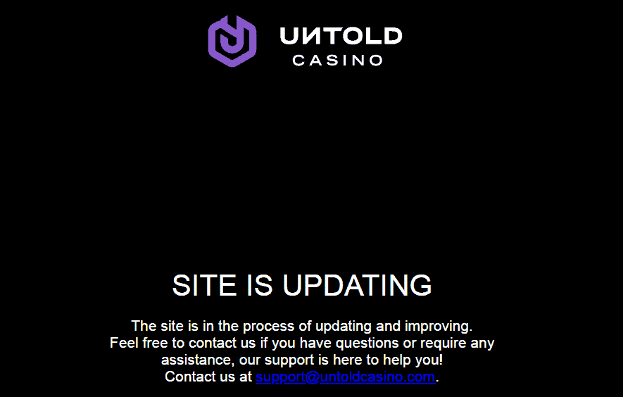 untold casino home updating