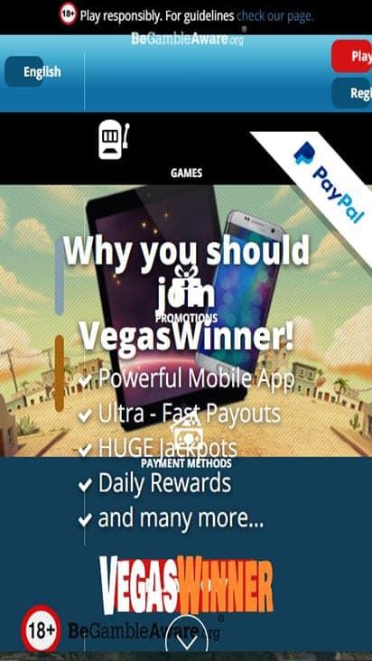 vegaswinner home mobile