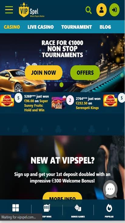 vipspel home mobile