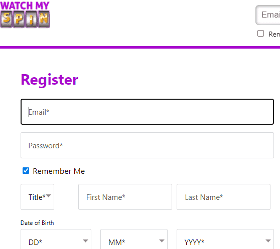 watch my spin sign up