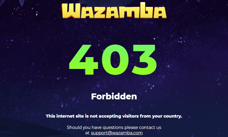 wazamba100 home restriction NA
