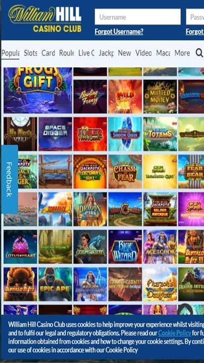 william hill casino game mobile