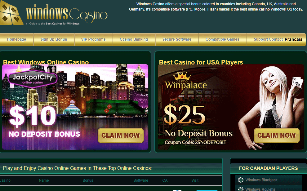 windows casino home