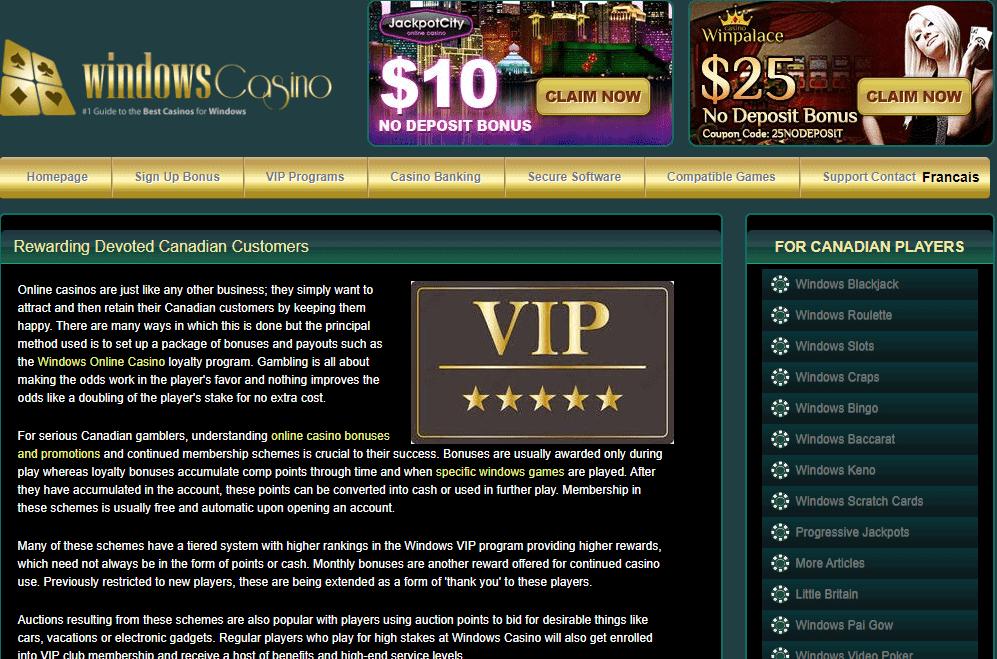 windows casino promotions