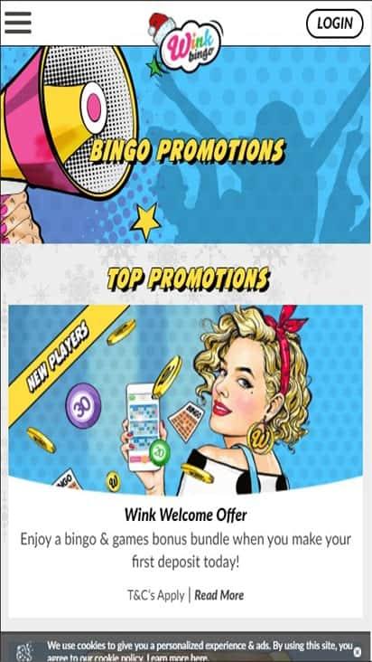wink bingo pomo mobile