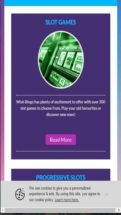wish bingo game mobile