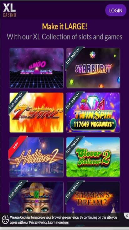 xlcasino game mobile