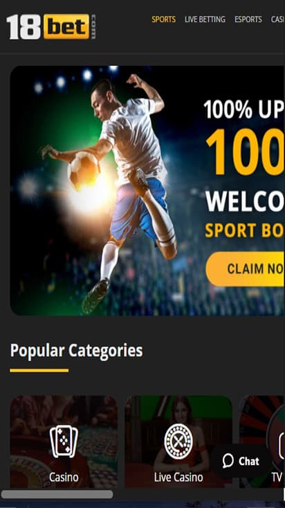 18 Bet home mobile