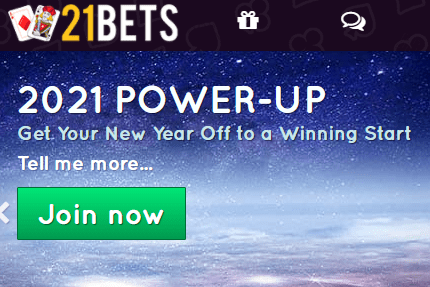 21 bets front image
