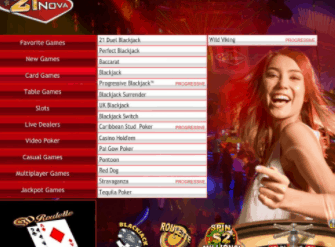 21 nova casino front image