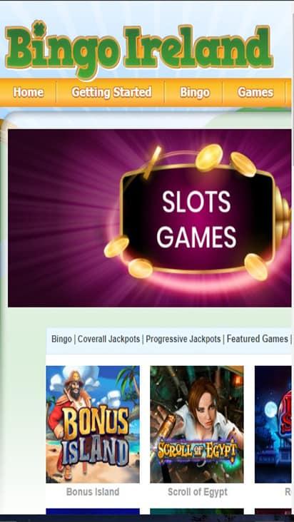 Bingo Ireland game mobile