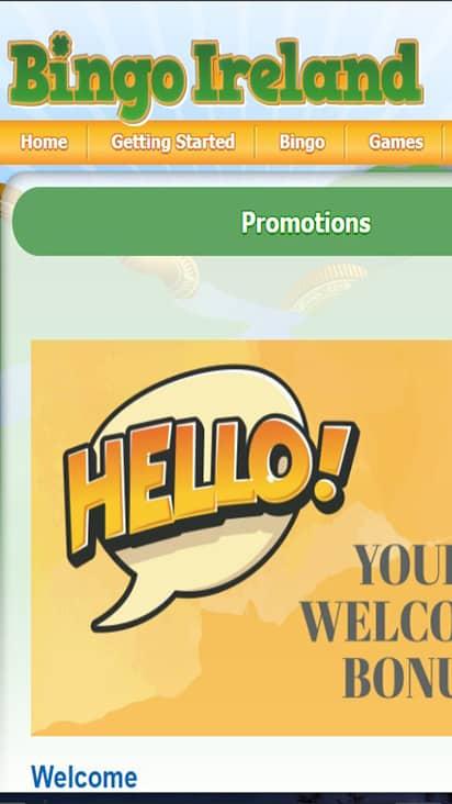 Bingo Ireland promo mobile