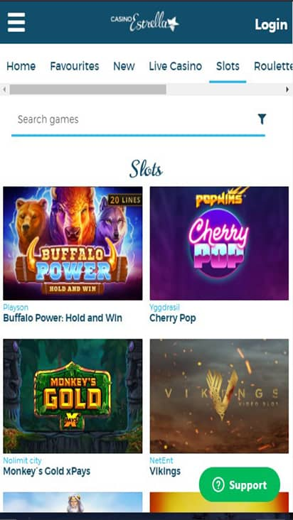 Casino Estrellas game mobile