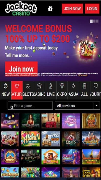 Casino Jackpot home mobile