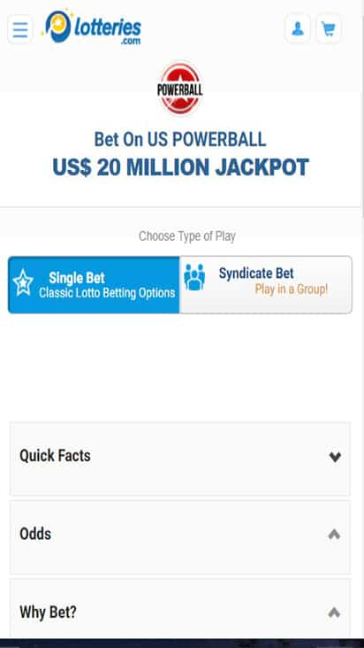 Lotteries game mobile