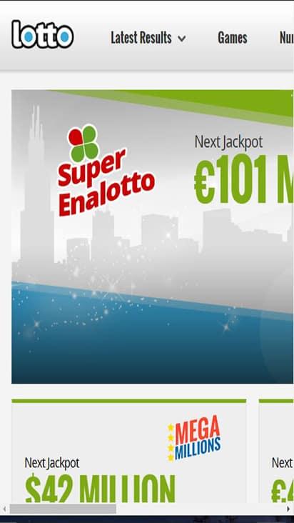 Lotto Net home mobile