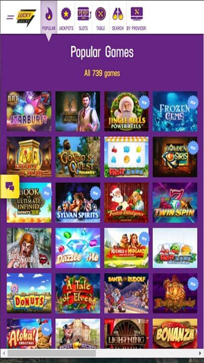 Lucky Casino game mobile