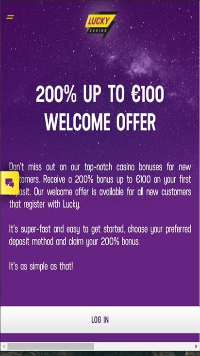 Lucky Casino promo mobile