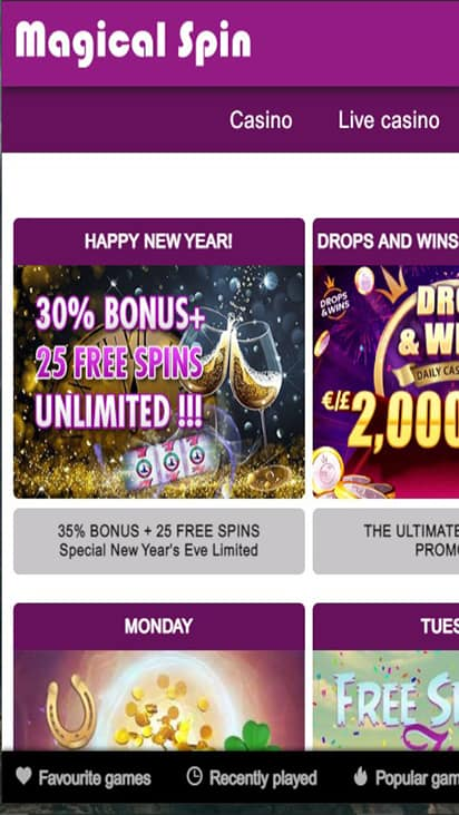 Magical Spin promo mobile