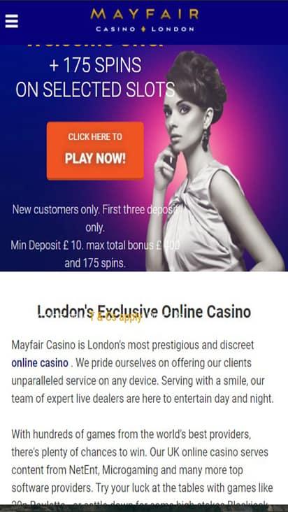 Mayfair Casino home mobile