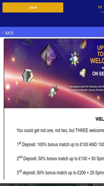 Mayfair Casino promo mobile