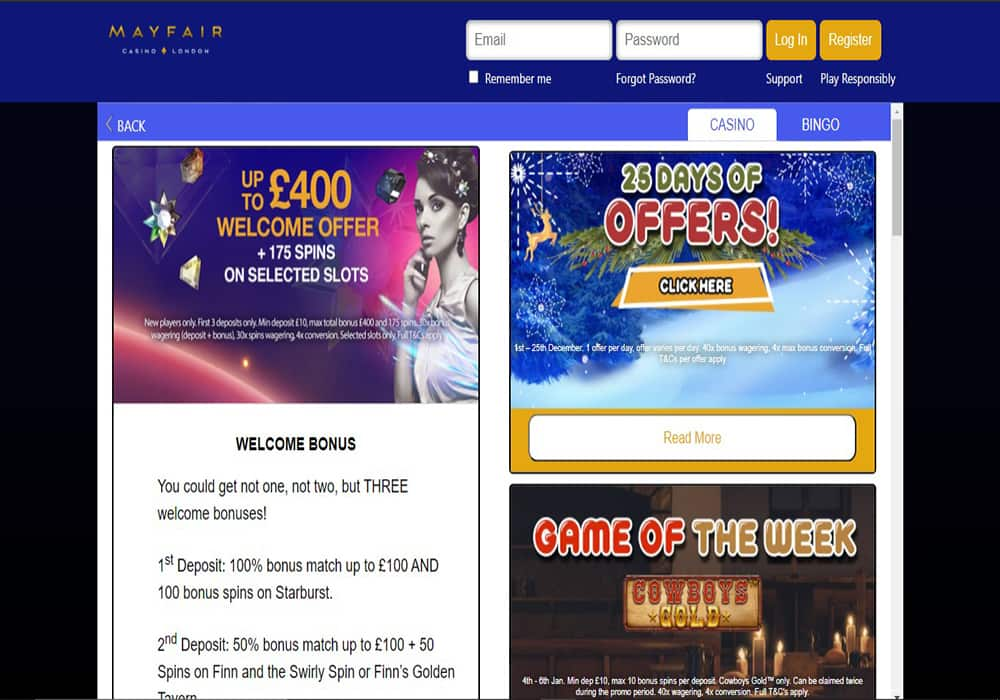 mayfair casino london promotions