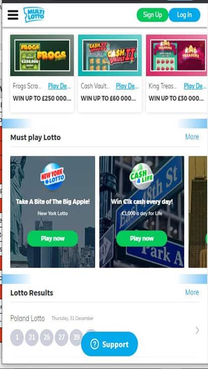 Multi Lotto game mobile