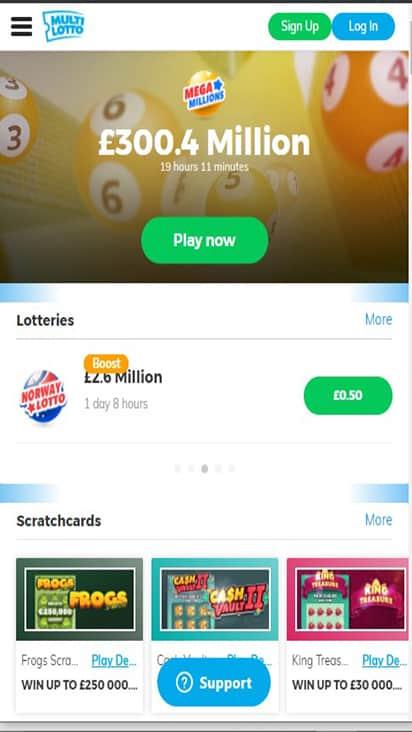 Multi Lotto home mobile